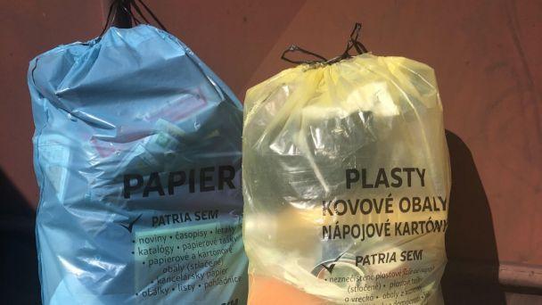 Triedený vrecový zber - plast